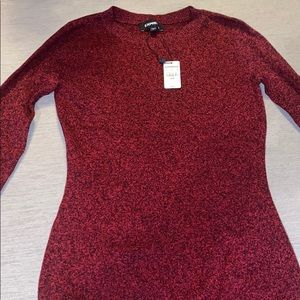 Express long sleeve fitted sweater